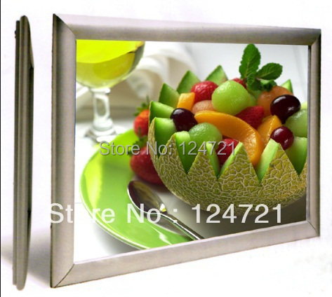 цена на a2 super slim lighted restaurant menu board ,led light box aluminium display for advertising