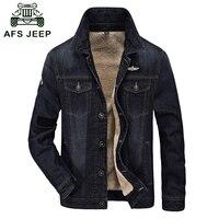 2016 Autumn Winter Denim Jacket Men Brand Clothing Fleece Thicken Warm Men Jacket Coat Outdoor Jeans