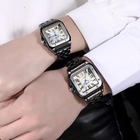 DALISHI TOP Brand Couple Watche Square Roman Big Dial Ladies Watch Fashion Men Quartz Date Clock Relogio Feminino Reloj Mujer
