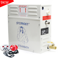 9KW Steam Generator Sauna For Sauna Room Control Steam Bath Machine For Home Spa Relaxes Tired Fumigation 220V 380V ST 90 CE