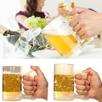 Creative Sparkling Beer Mug Hour Eco Friendly Frothing Cup Party Supplies