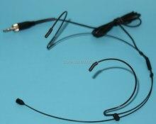 Zwarte Professionele Headset/Headset Microfoon voor Sennheiser SK 100 300 500 G1 G2 G3 Draadloze Systeem SE A003