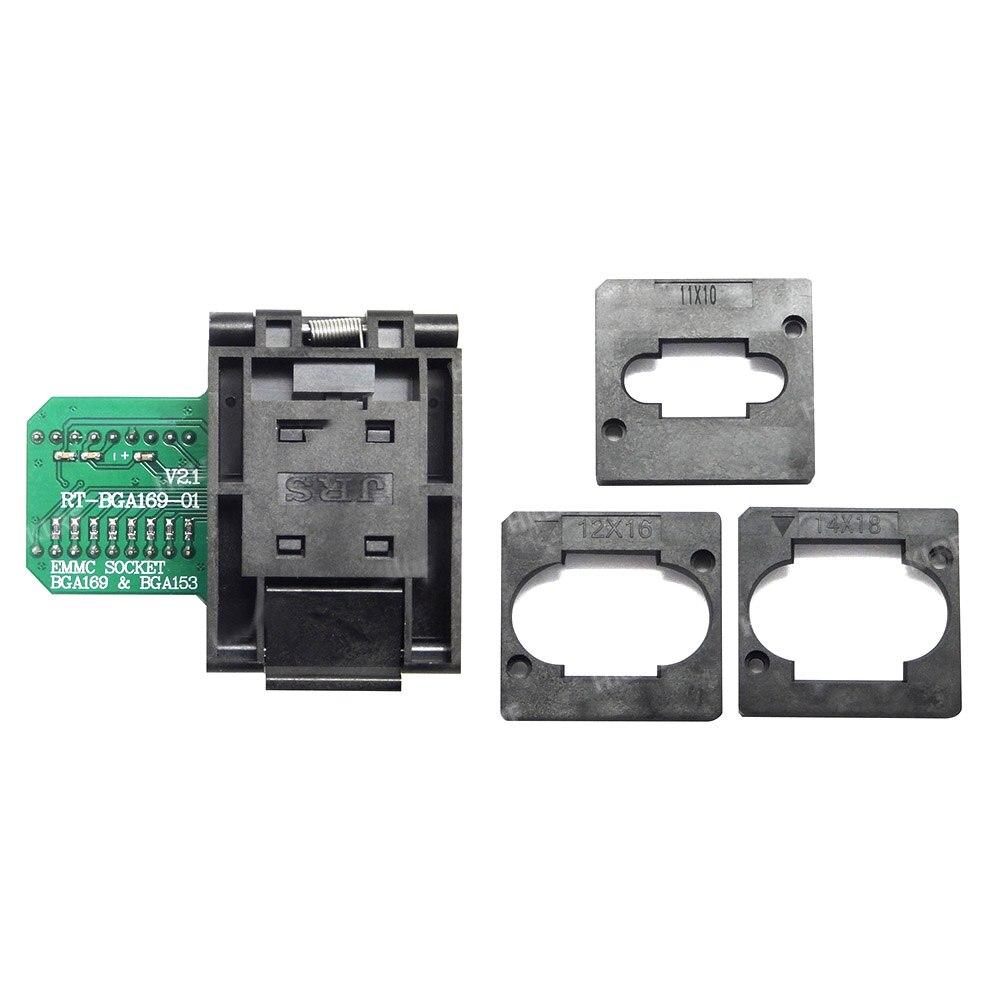 RT BGA169 01 V2 1 EMMC Seat EMCP153 EMCP169 Socket for RT809H Programmer 11 5 13mm