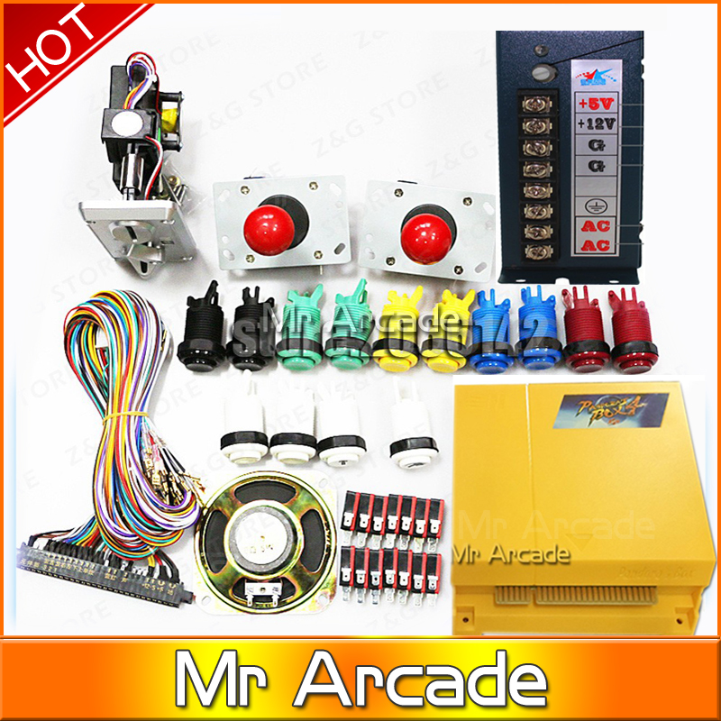 Pandora box 4 VGA / CGA output for LCD / CRT 645 in 1 game board arcade bundle video-arcade jamma boards accesorios kit led lights mini arcade bundle machines 645 in 1 joystick game consoles with jamma multi games pandora 4 game pcb board
