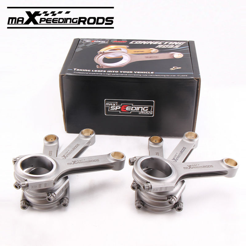 Connecting Rods for MITSUBISHI 6G72 3000GT Conrods Con Rod 141mm 800HP arp 2000 bolts 4340 Forged pistons H Beam con rods