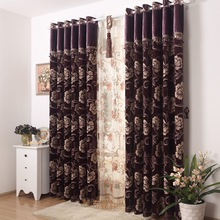 Bedroom Curtains Classic Chenille Drapes Window Treatments Luxury Blackout Panel Drapes Elegant Jacquard Blinds Fabric Thermal