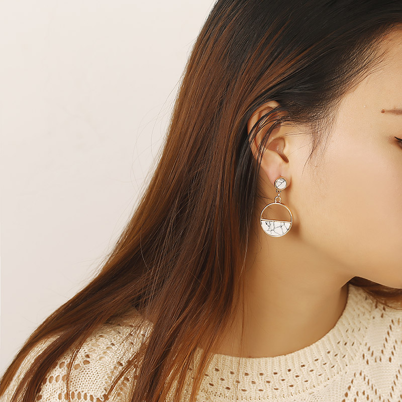 Simple Style Fashion Silver Gold Color Earrings for Women Square Round Geometric Hanging Earrings 18 Female Pendientes Jewelry 30