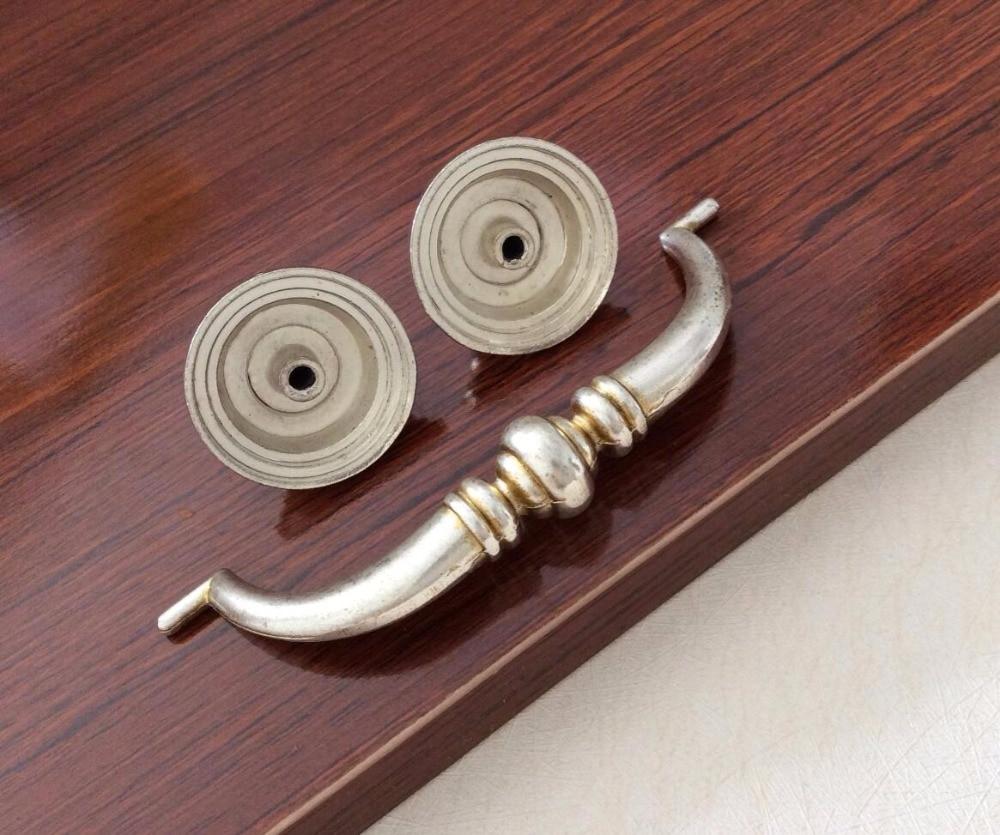 3.75\'\' 4.25\'\' Retro Drop pull Anituqe Silver Drawer Handles Pulls ...