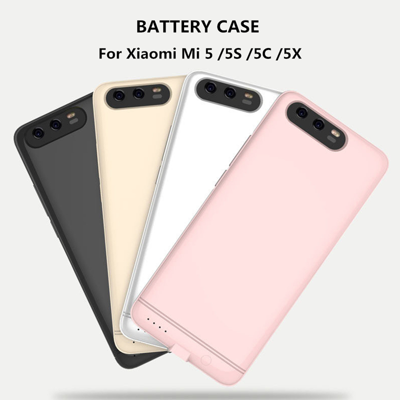 <font><b>6000mAh</b></font> Ultra Thin <font><b>Power</b></font> <font><b>Bank</b></font> Battery Charger Case For <font><b>Xiaomi</b></font> Mi 5 5S 5C 5X <font><b>Power</b></font> Case External Backup Battery case image