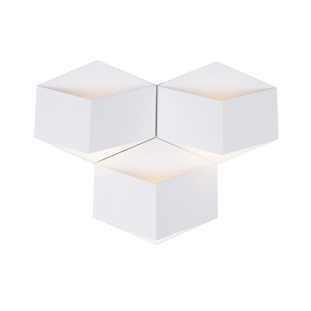 Creative Magic 3D DIY Iron Cube Led Wall Lamp For Bedroom Bedside Corridor  Living Room Deco