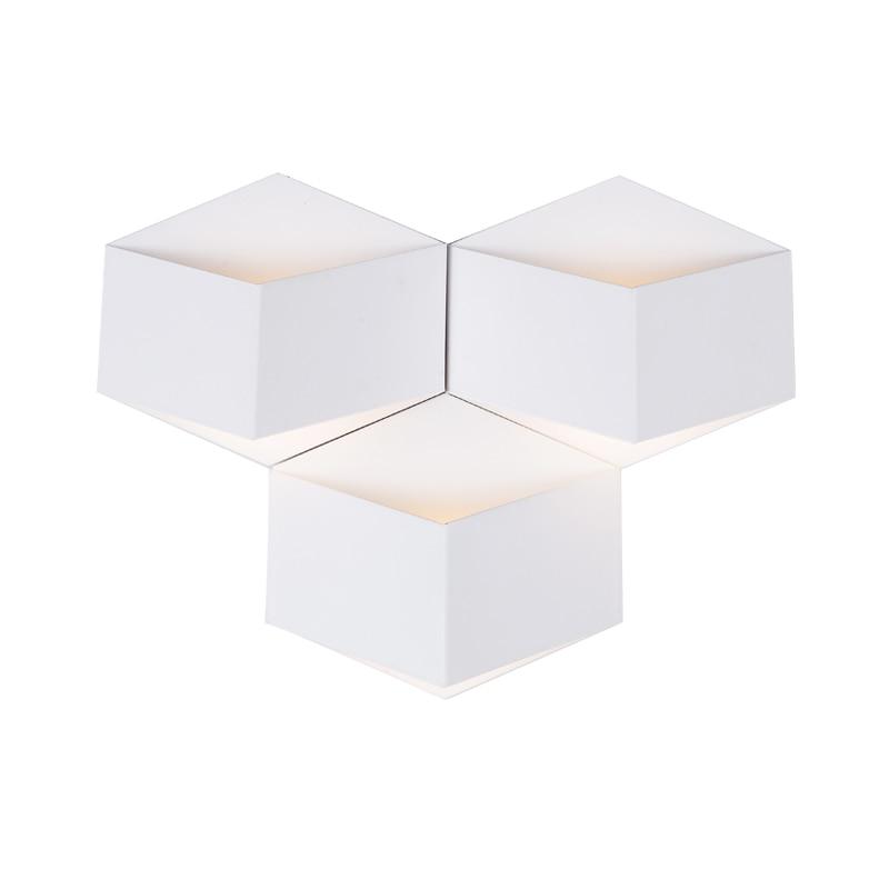 Creative Magic 3D DIY Iron Cube Led Wall Lamp For Bedroom Bedside Corridor Living Room Deco Poch Light 80-265V 1917