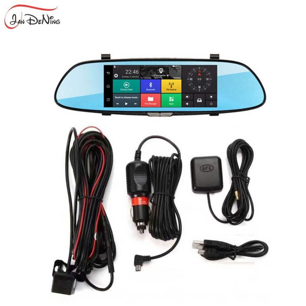 JanDeNing JanDeNing 7.0 IPS touch Screen 3G network Android 5.0 quad core RAM 1GB bluetooth Dual Cam Mirror Car DVR