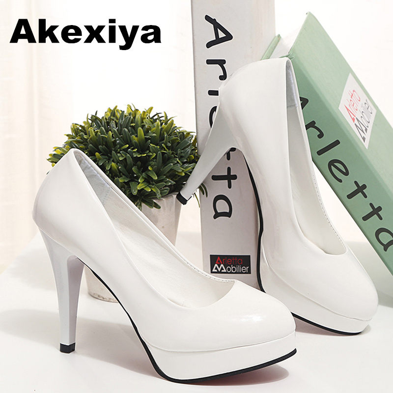Akexiya Korean Version tenis feminino Sexy Women Shoes Fashion Shallow Mouth Black High Heels Fine With Pointed Woman Pumps 42 spring summer high heels 2016 korean thin heels with a fine pointed shallow mouth sexy wedding shoes wear comfortablesuede shoes