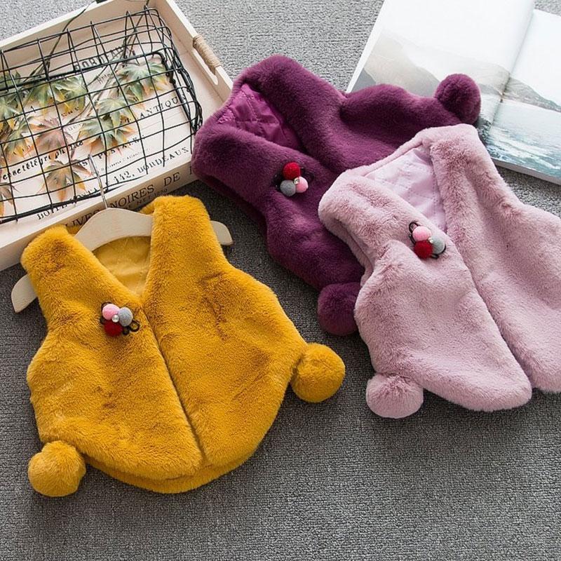 Besorgt 1st Geburtstag Baby Kleidung Outfits Warme Weste Jacke Für Herbst Winter Neugeborenen Baby Mädchen Kleidung Weste Mode Feste Mantel Weste üBerlegene (In) QualitäT