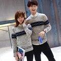 Женская свитер пары одеваться тонкий Пуловер Свитер поддержка студентов и студенток девушка теплый свитер осень зима # LX6047