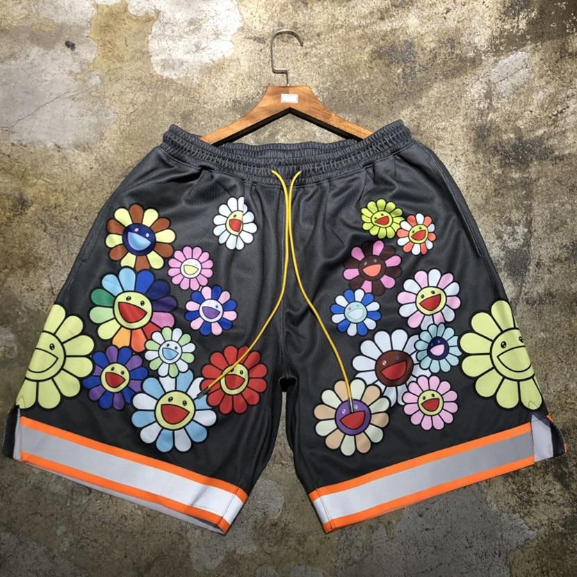Professional Sale 3m Reflective Murakami Shorts Men Women Best Quality Streetwear Shorts Fashion Beach Sportswear Murakami Shorts