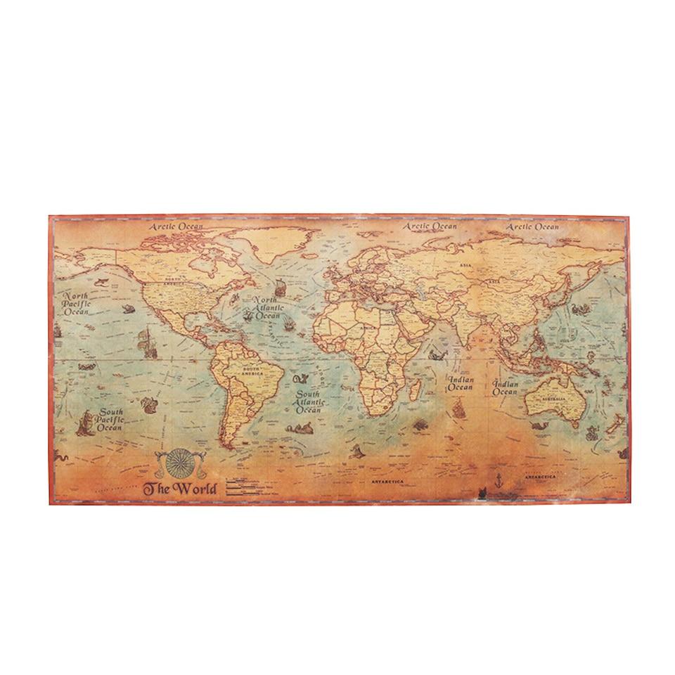 World map poster vintage ancient sailing map wall sticker large world map poster vintage ws052 2 gumiabroncs Choice Image