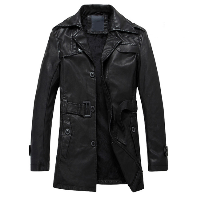 Winter Mens PU Windbreaker New European Mens Leather Jackets and Coats Motorjack Male Business Formal Leather Jacket Cheap S2299