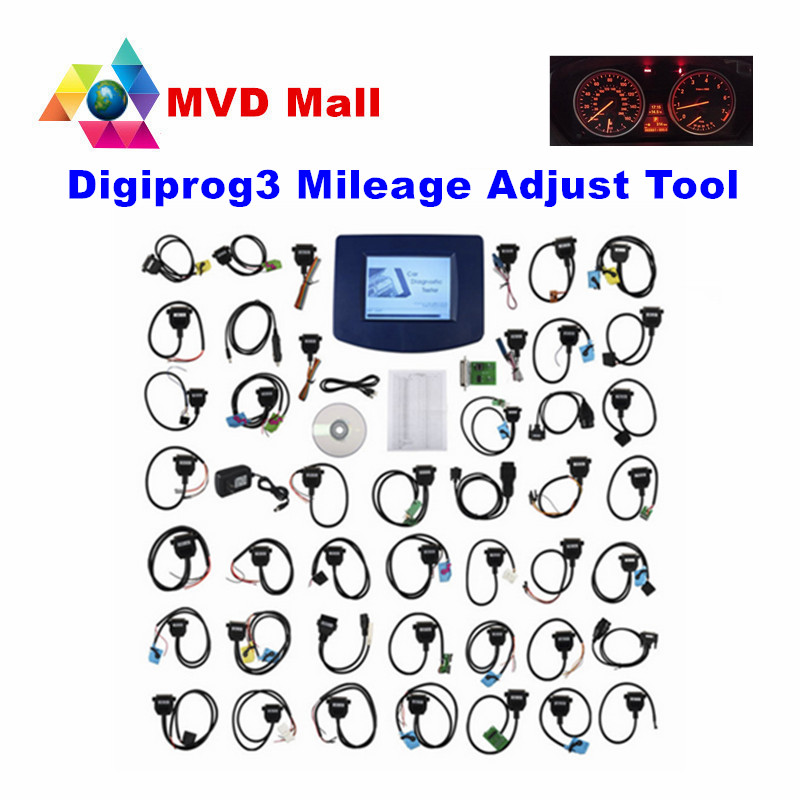 Prix pour 2017 Date V4.94 Digiprog3 Ensemble Complet Câble Digiprog iii Digiprog 3 OBD2 Programmeur D'odomètre DP3 Kilométrage Correction Outil DHL Livraison