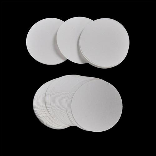 100PCS/bag Wholesale 7cm Laboratory Filter Paper Circular Qualitative Filter Paper Medium Speed Funnel Filter Paper Color:White