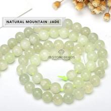 3bebf75bb6f4 Jade verde Natural perlas nefrita verde mate de piedras preciosas de  Calcedonia facetada redonda 4 6