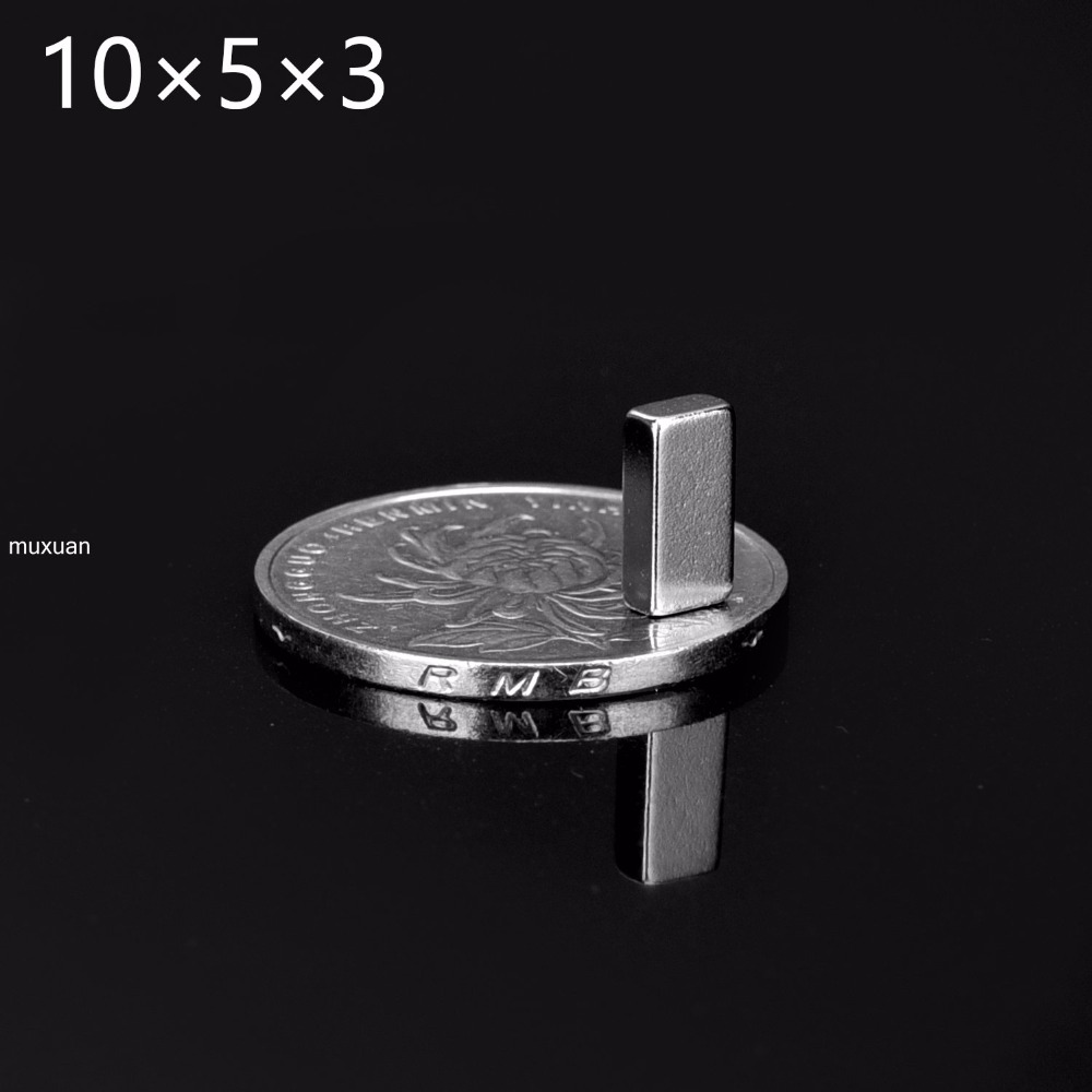 Super strong magnets for crafts - 50pcs 10x5x3 Super Strong Magnets 10mm X 5mm X 3mm Rare Earth Neodymium 10 5 3 New Art Craft Connection Free Shipping