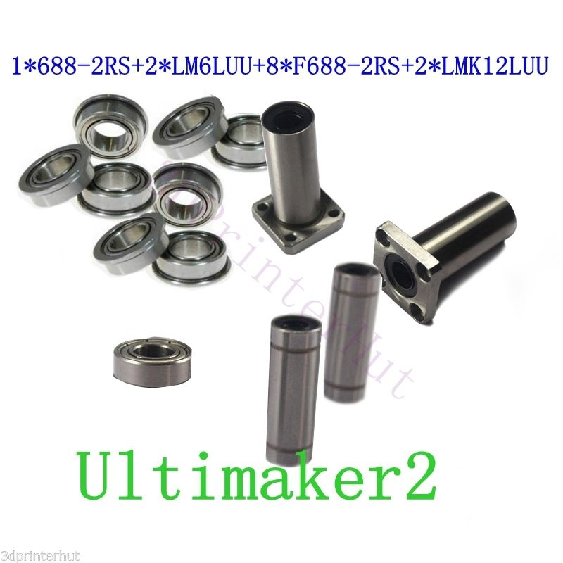 ФОТО 1Set Ultimaker 2 3D Printer Ball Bearings / Square Flanged Linear Bearings