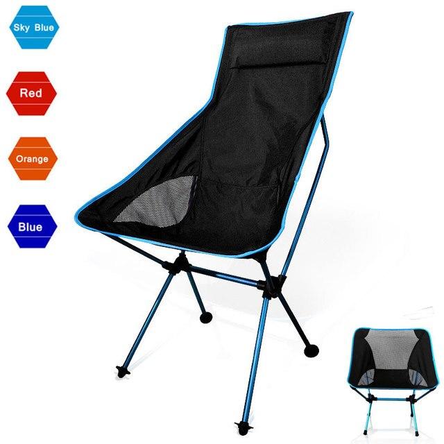 Beach Chair Fishing Grazing Camping Ultralight Folding Chair Outdoor Furniture 7075 Al Oxford Fabric Max 150kg Modern Moon Chair