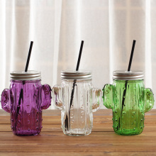 With Straw Cactus Design Students Drink Bottle Creative Portable Milk Tea Children Water 400ml