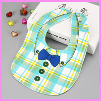 Double Side 4 Layers Baby Bibs Waterproof Bow Shirt Baby Waterproof Burp Cloths Baby Boys Girls