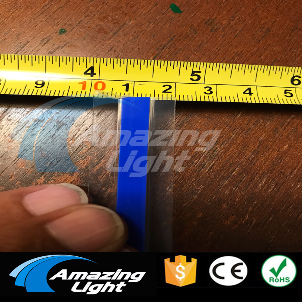 150M Customized 0.7cm width Blue color Flexible Electroluminescent strips EL tapes With 7pcs inverter Free Shipping