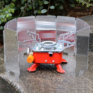9 plates Fold Camping Cooker Gas Stove Wind Shield Screen Foldable Outdoor hot selling