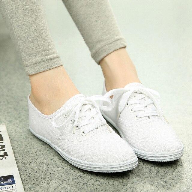 Женские весенние ботинки холстины женщин Корейский белые туфли дышащий Чао Литературы студент обувь женский внешней торговли обувь