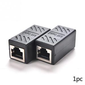 Image 2 - 2020 RJ45 żeński do żeńskiego CAT6 sieci Ethernet złącze LAN łącznik adaptera czarny