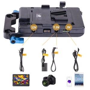 Image 2 - DF DIGITALFOTO système dalimentation avec port USB DSLR v montage batterie adaptateur secteur V verrouillage caméra vidéo batterie plaque essentiels