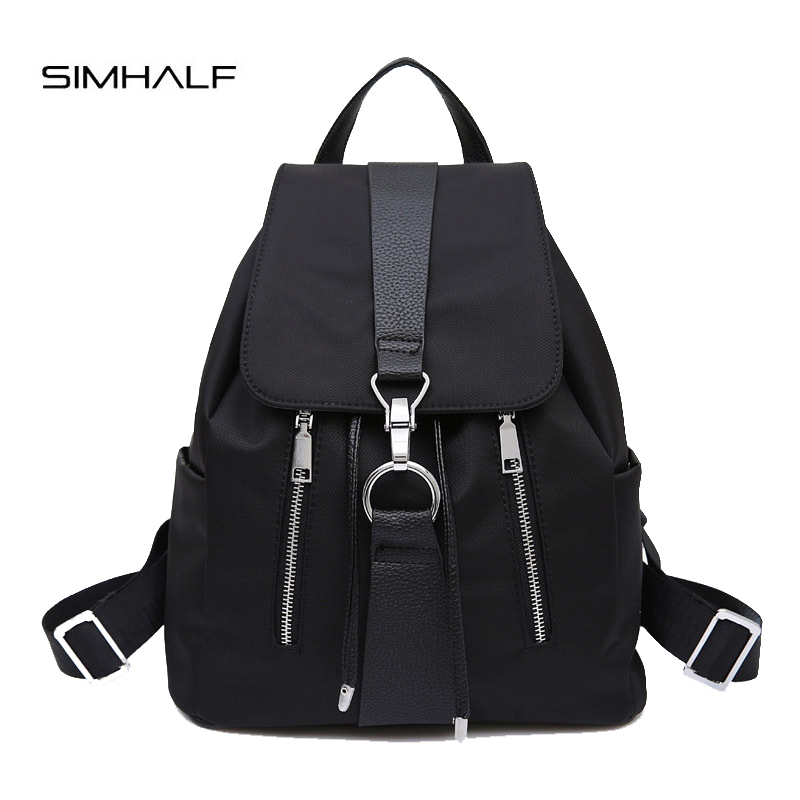 SIMHALF New Brand 2017 Women Backpack Waterproof Nylon Lady Women's Backpacks Female Casual Travel Bags mochila escolar feminina new 2017 women backpack waterproof nylon lady school bag women s backpacks female casual travel backpack bags mochila feminina