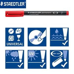Image 4 - Ponto fino 0.6mm caneta marcador permanente de staedtler 318 wp4 lumocolor canetas universais pintura escrita para cd papel madeira multiuso