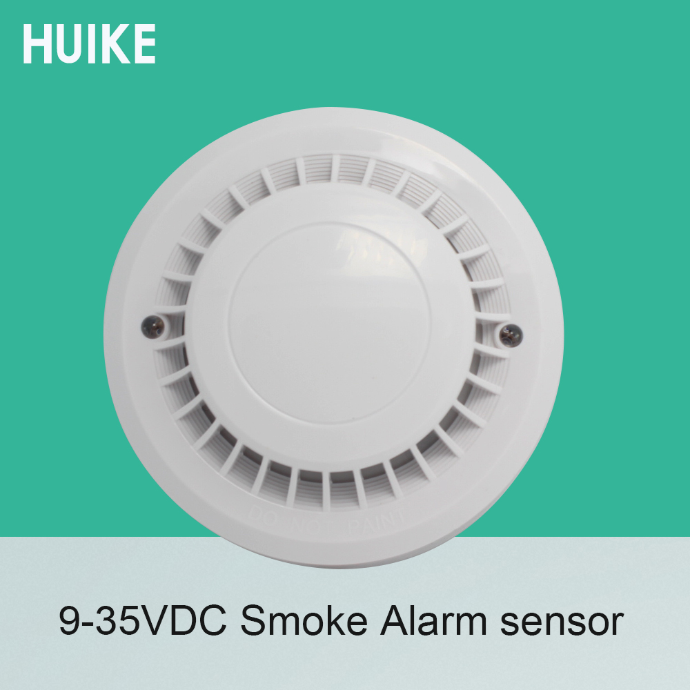 1 PCS 12VDC Indoor Use Ceiling Smoke Detector 4 core Cable Fire control Alarm Sensor NC NO Signal output options ...