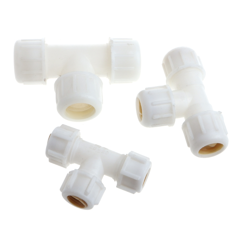 <font><b>Tee</b></font> Way Tube Fitting Accessories <font><b>Pipe</b></font> Connector Garden Irrigation Industrial 20/25/32mm