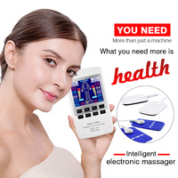 Electronic Tens Pulse Therapy Machine Digital Acupuncture Massager Pain Relief Stimulator Full Body Relax Muscle Device+16 Pads