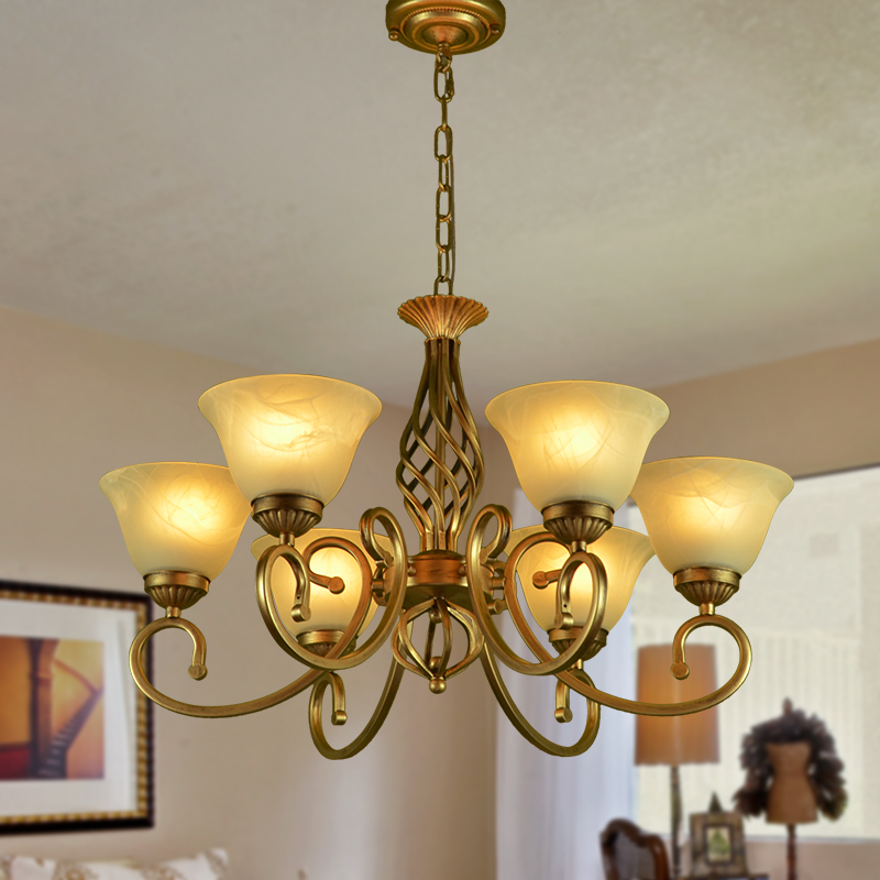 Minimalist Iron Ring Chandelier: Multiple Chandeliers 6 Heads Wrought Iron Complex