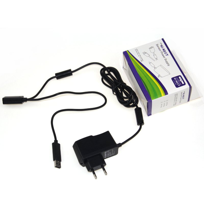 lowest price Promotion New EU USB AC Adapter Power Supply with USB charging cable for Xbox 360 XBOX360 Kinect Sensor