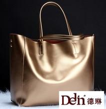 DELIN Spring/summer 2017 collection euramerican fashion leather female bag Women's handbag Shoulder real leather