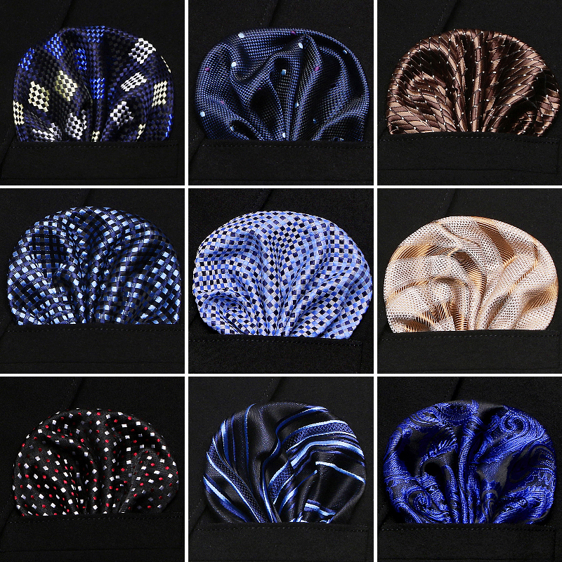Newest Style Men's Pocket Square Flower Hankerchief Scarves Vintage Linen Paisley Hankies Handkerchiefs 23*23 Cm