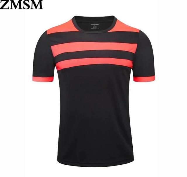 ZMSM Mens Football Jerseys 2017 2018 Breathable training Soccer Jerseys L-4XL  Football Jersey Shirts Sports Wear For Teens d2285a9d9