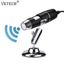 1000X Wifi цифровой микроскоп Лупа USB Инспекционная камера 8 светодиодный с подставкой для Android IOS портативный электронный Микроскоп
