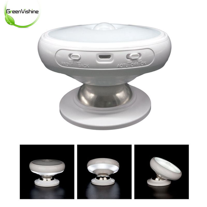Adjust 360 Degree Rotate LED Night Light Human Body Sensor Lamp Magnetic Adsorption Corridor Wardrobe Wall Lamp Battery Power цена