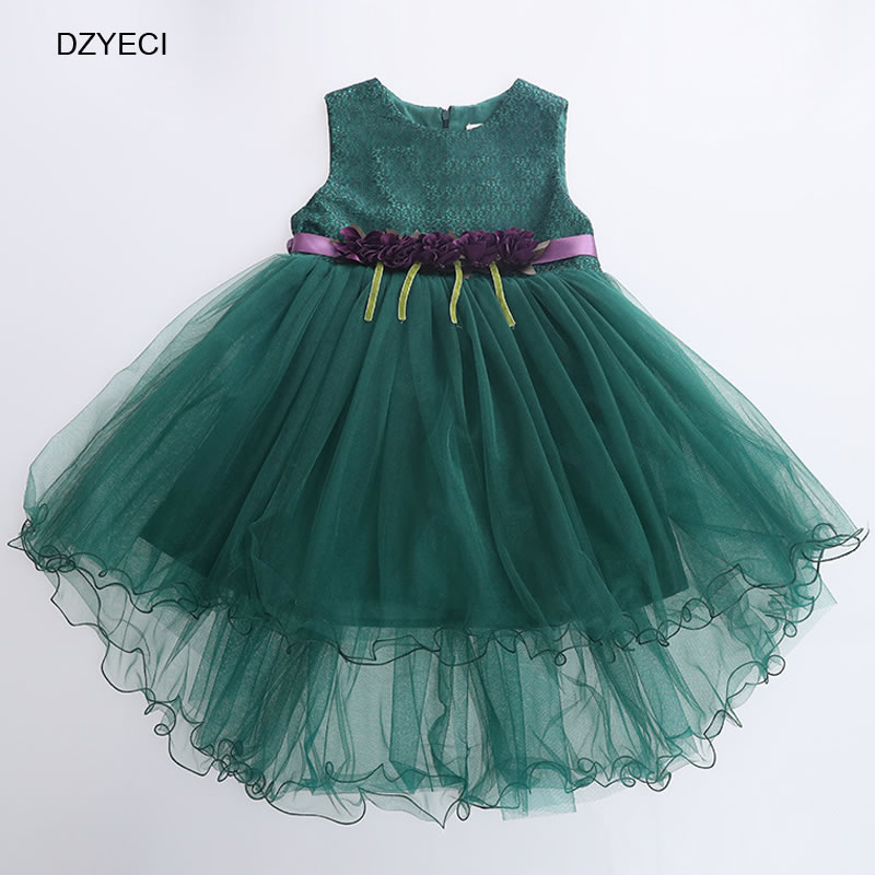 ae770b36e7102 Mottelee Lace Infant Party Girls Dress Formal Flower Baby Princess ...