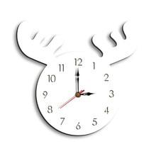 European Creative Elk head creative wall clock living room home cartoon childrens hangings
