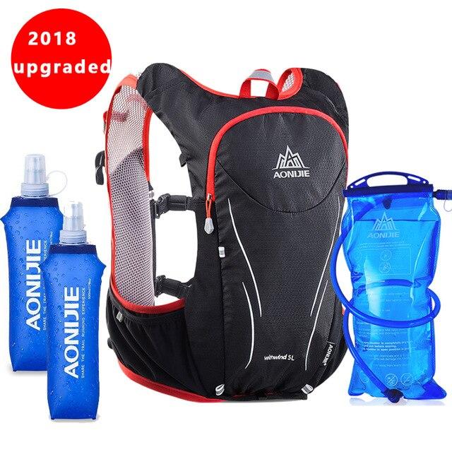 AONIJIE Nylon 5L sacs de plein air randonnée sac à dos gilet professionnel Marathon course vélo sac à dos pour 1.5L sac à eau